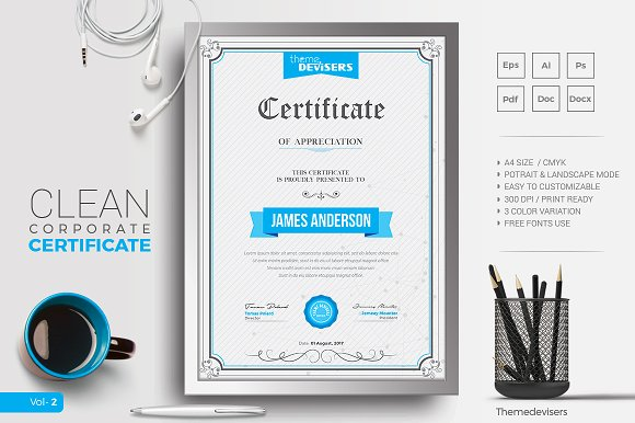 Certificate stationery templates creative market yadclub Images