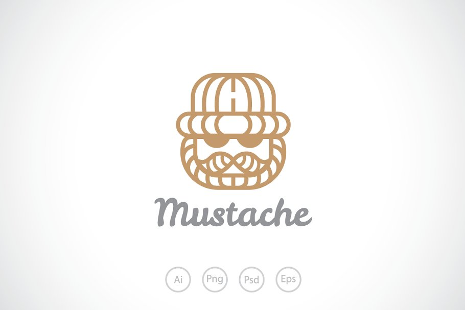 5a83cf708f9 Old Man with Wooden Hat Logo Templat ~ Logo Templates ~ Creative Market