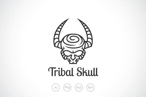 tribal skull logo template logo templates creative market