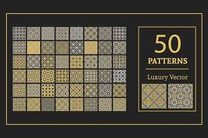 50 Luxury seamless patterns