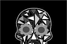 Skull vector triangle black