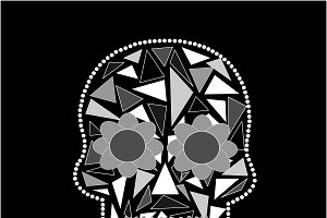 Skull vector triangle black