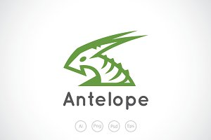 Young Antelope Logo Template