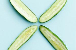 Sliced cucumber X
