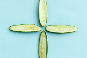 Sliced cucumber +