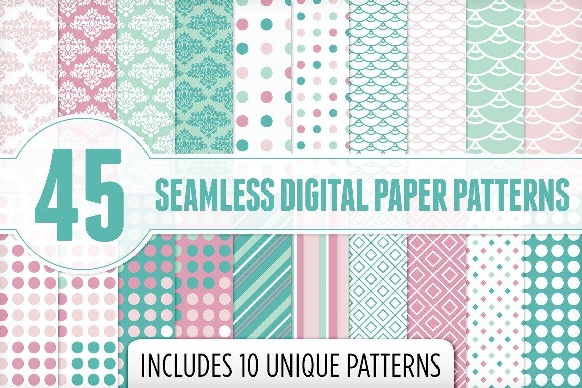 seamless digital paper patterns 1 graphic patterns creative market