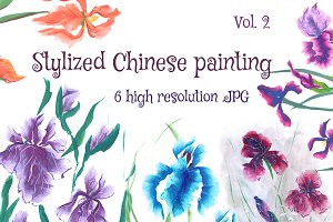 Stylized Chinese painting set.2