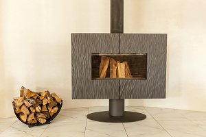 Wood stove-fireplace