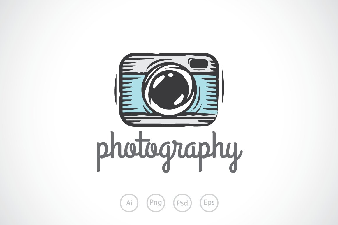 Camera sketch logo template logo templates creative market for S design photo