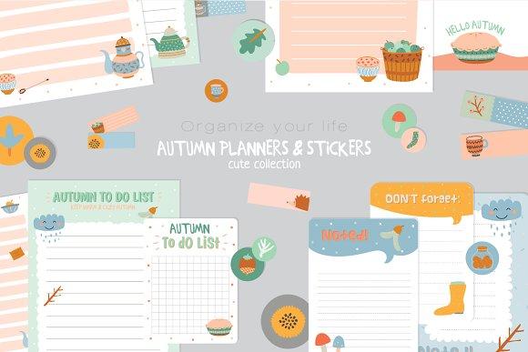 autumn stationery bundle illustrations creative market