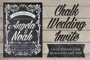 Chalk Wedding Invite