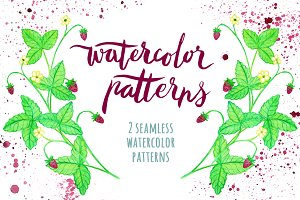 Lovely watercolor patterns