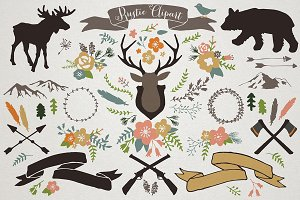 Rustic Mountain Lodge Illustrations