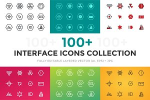 Vector UI technology icons set