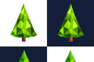 Christmas tree flat 3d vector