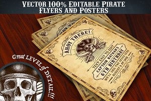 Pirate Flyer Invite Templates