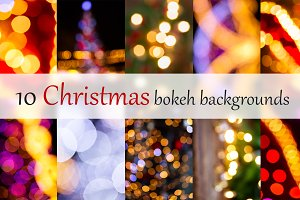 Set of christmas bokeh backgrounds