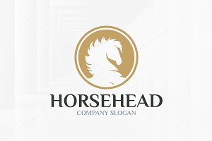 Horse Head Logo Template