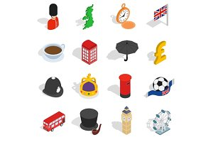England icons set