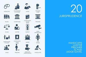 Jurisprudence icons