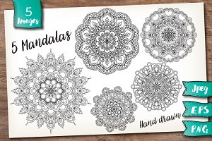 5 Decorative Mandalas