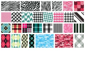 Textile Patterns Vector Pack