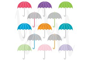 Colorful Umbrella Clip Art