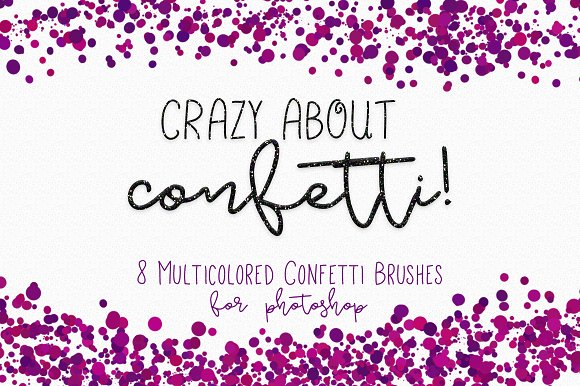 confetti brushes for photoshop brushes creative market