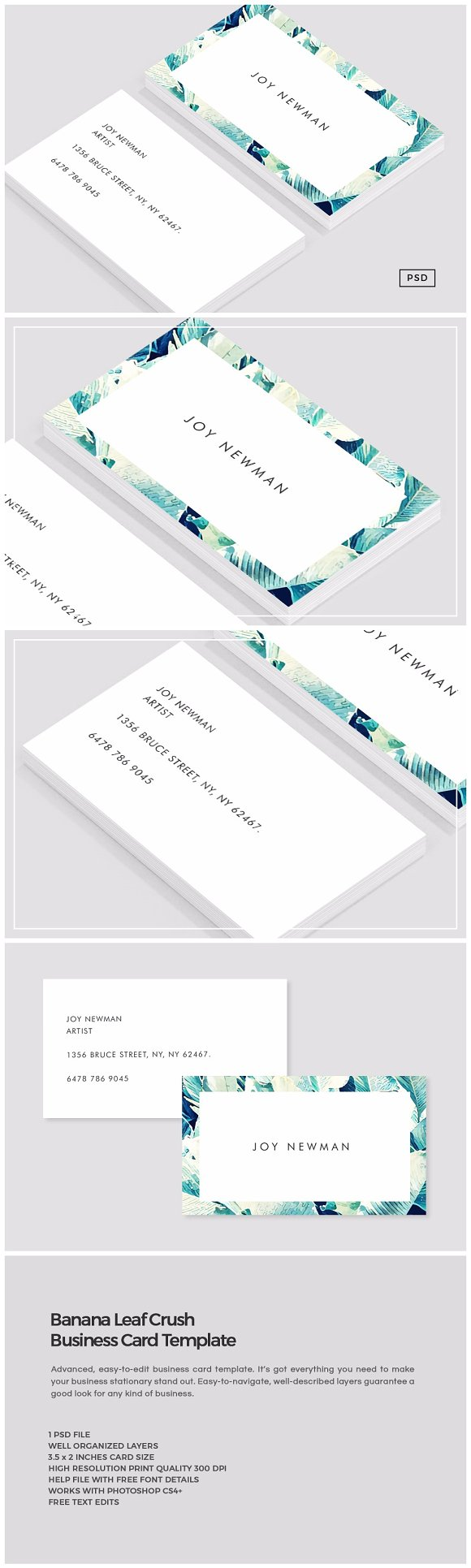 Banana Leaf Crush Business Card ~ Business Card Templates ...