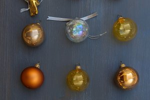 Christmas golden decorations
