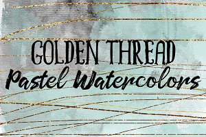 Golden Thread Pastel Watercolors