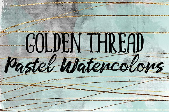 Golden Thread Pastel Watercolors