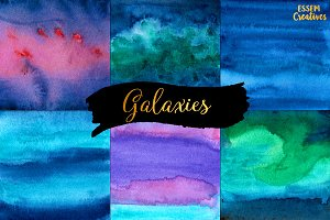 Watercolor Blue Galaxy BUNDLE