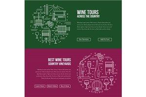 Wine industry Web landing page