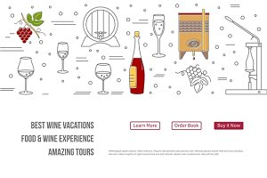 Wine industry Web landing page
