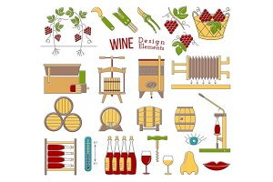 Wine industry design elements