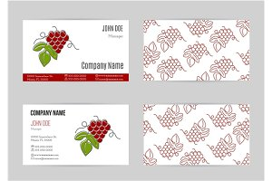 Wine industry business card template