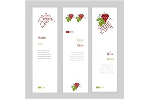 Wine industry banner templates