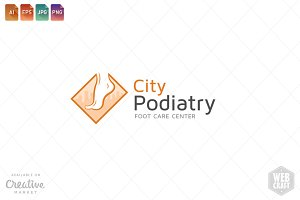Podiatry Logo Template 6