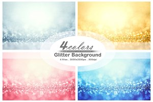 4 Abstract glitter background