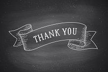 Thank you. Vintage ribbon. Chalk