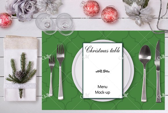 Christmas table Mockup. PSD
