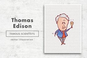 Thomas Edison • Vector character