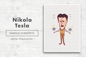Nikola Tesla • Vector character