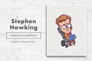 Stephen Hawking • Vector character