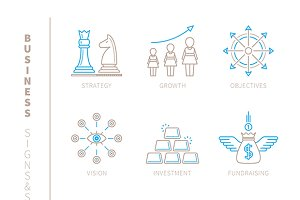 Business lineart iconset