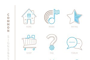 Websile lineart icons