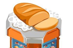 Sale fresh bread, sliced loaf