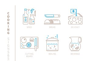 Cooking lineart iconset