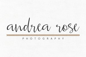 Andrea Rose Premade Logo Template
